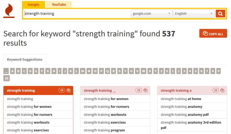 keywordtool-search-results