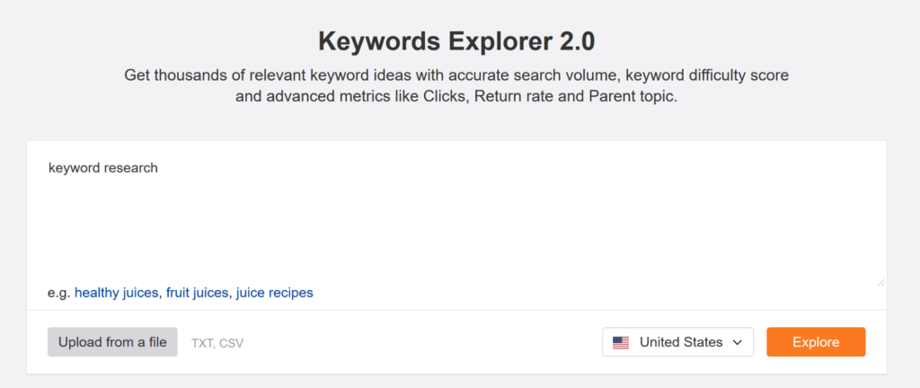 ahrefs-keyword-explorer-enter-seed-keyword