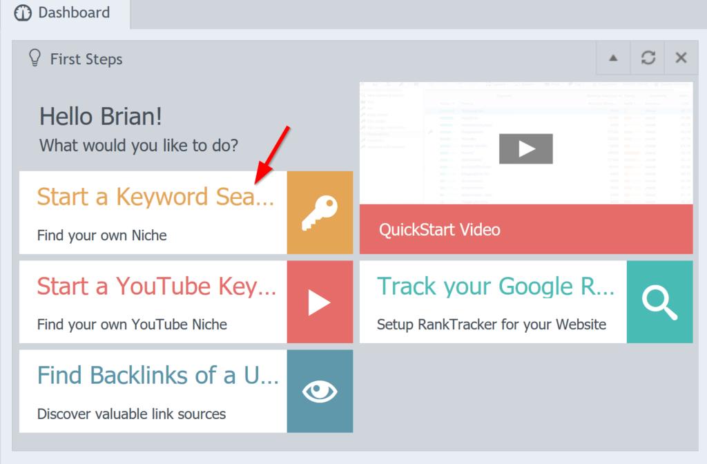start-keyword-search