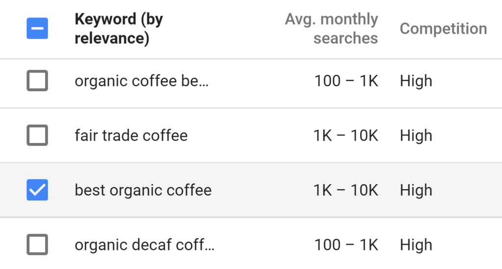 choosing-a-keyword