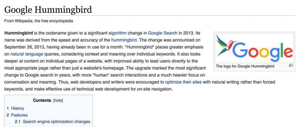 google-hummingbird-wiki