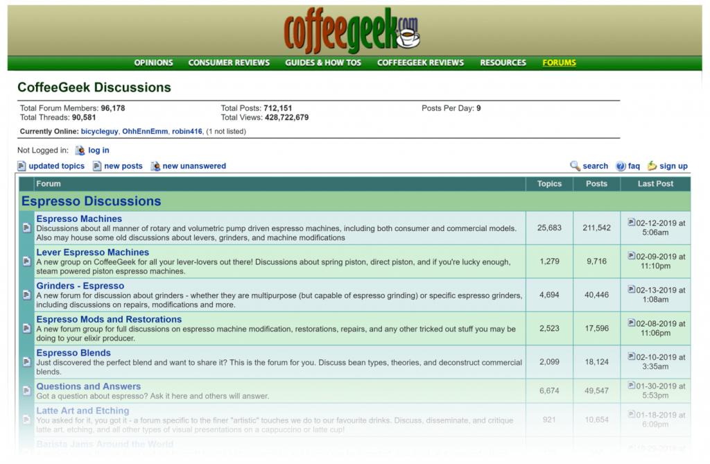 Yabancı Kahve forumları