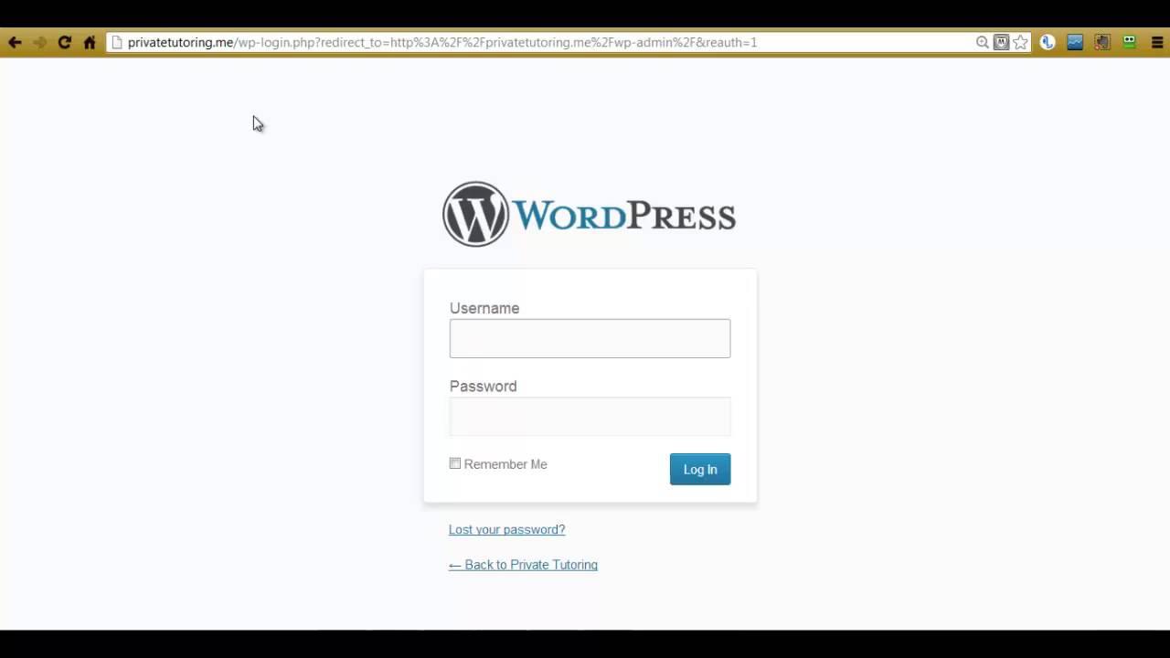 WordPress admin paneline nasıl girilir