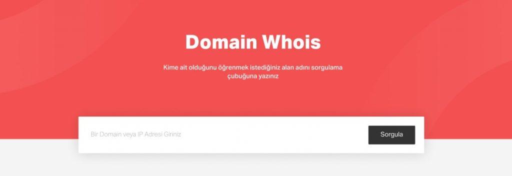 Domain whois sorgulamak