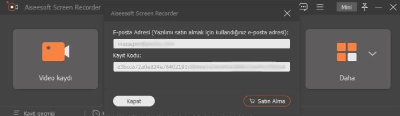 aiseesoft screen recorder pro lisans kodu